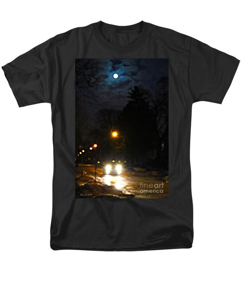 Men's T-Shirt  (Regular Fit) featuring the photograph Taxi In Full Moon by Nina Silver