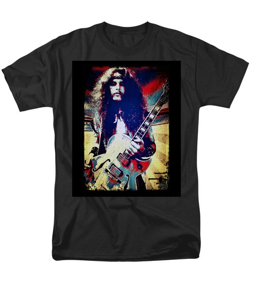 Ted Nugent - Red White And Blue Men's T-Shirt  (Regular Fit) by Absinthe Art By Michelle LeAnn Scott