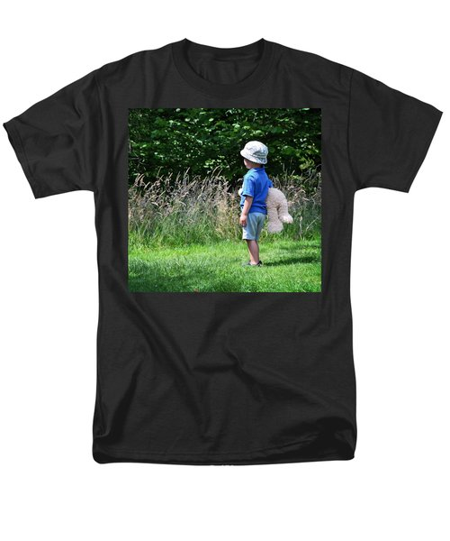 Men's T-Shirt  (Regular Fit) featuring the photograph Teddy Bear Walk by Keith Armstrong