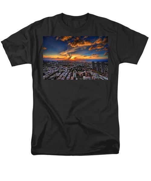 Tel Aviv Sunset Time Men's T-Shirt  (Regular Fit) by Ron Shoshani