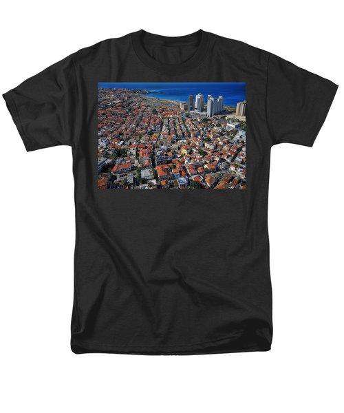 Tel Aviv - The First Neighboorhoods Men's T-Shirt  (Regular Fit) by Ron Shoshani