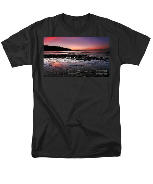 Men's T-Shirt  (Regular Fit) featuring the photograph Tesselated Pavement Sunrise by Bill  Robinson