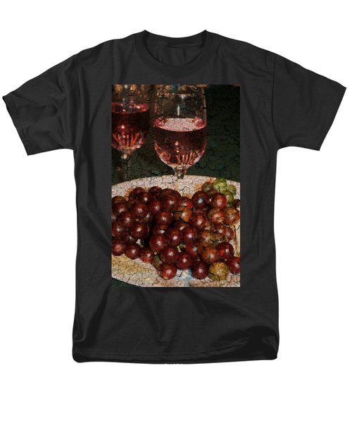 Textured Grapes Men's T-Shirt  (Regular Fit) by Barbara S Nickerson