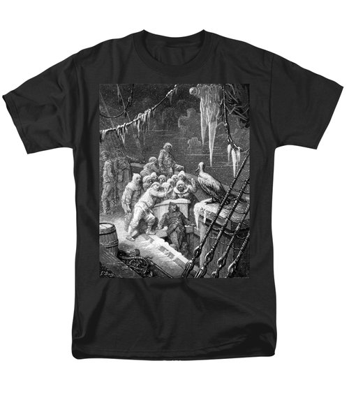 The Albatross Being Fed By The Sailors On The The Ship Marooned In The Frozen Seas Of Antartica Men's T-Shirt  (Regular Fit) by Gustave Dore