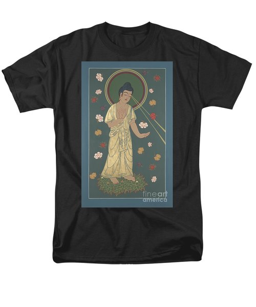 Men's T-Shirt  (Regular Fit) featuring the painting The Amitabha Buddha Descending 247 by William Hart McNichols