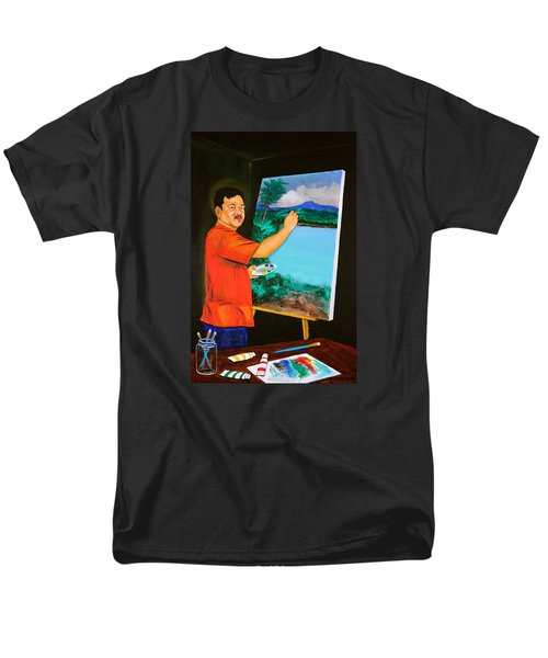 Men's T-Shirt  (Regular Fit) featuring the painting The Artist by Cyril Maza