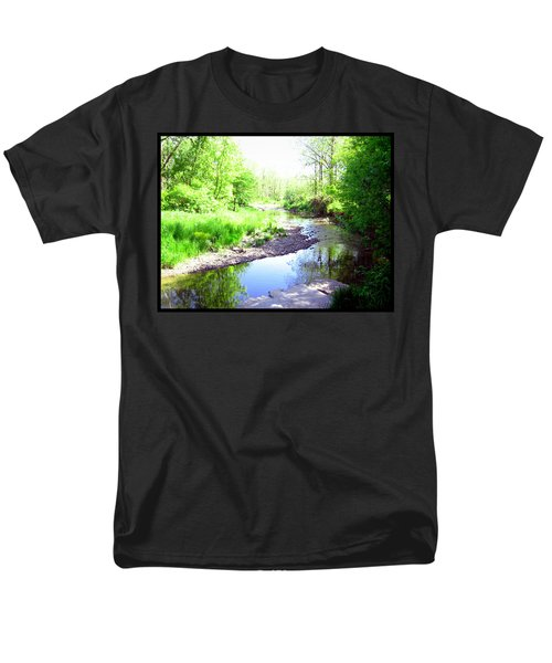 The Babbling Stream Men's T-Shirt  (Regular Fit) by Shawn Dall