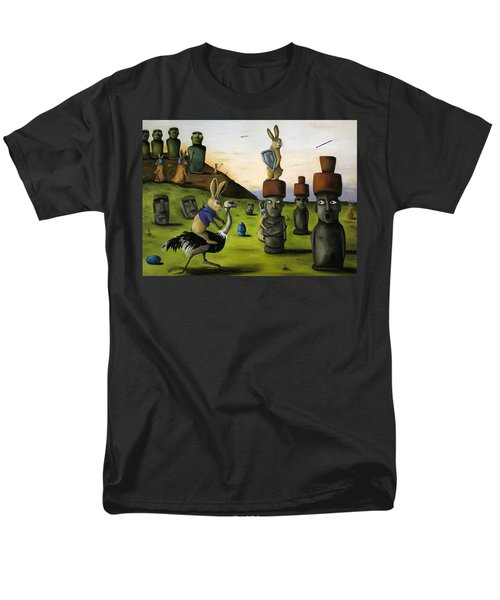 The Battle Over Easter Island Men's T-Shirt  (Regular Fit) by Leah Saulnier The Painting Maniac