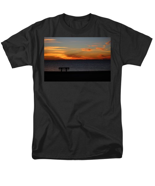 Men's T-Shirt  (Regular Fit) featuring the photograph The Bench by Faith Williams