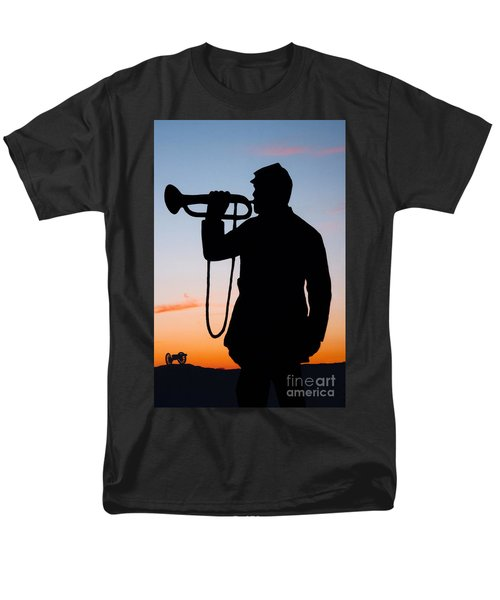 Men's T-Shirt  (Regular Fit) featuring the painting The Bugler by Karen Lee Ensley