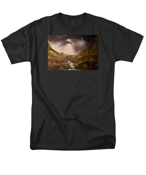 Men's T-Shirt  (Regular Fit) featuring the painting The Cairngorms In Scotland by Jean Walker