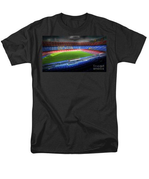 The Camp Nou Stadium In Barcelona Men's T-Shirt  (Regular Fit) by Michal Bednarek
