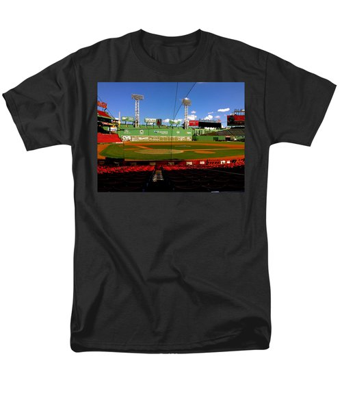 Men's T-Shirt  (Regular Fit) featuring the photograph The Classic  Fenway Park by Iconic Images Art Gallery David Pucciarelli