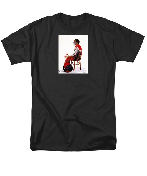 Men's T-Shirt  (Regular Fit) featuring the painting The Clown, Intermission by Joyce Gebauer