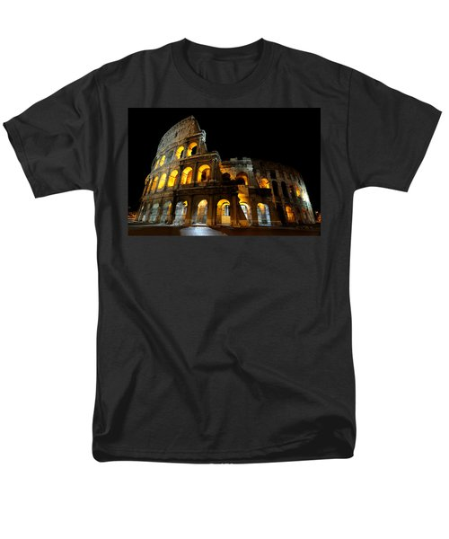 Men's T-Shirt  (Regular Fit) featuring the photograph The Colosseum At Night by Jeremy Voisey