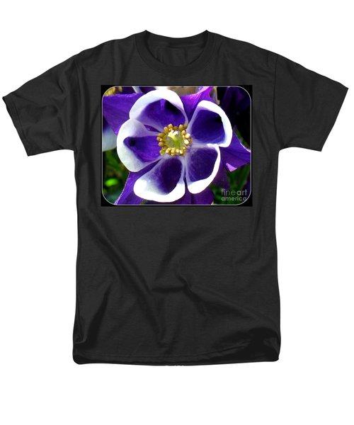 Men's T-Shirt  (Regular Fit) featuring the photograph The Columbine Flower by Patti Whitten