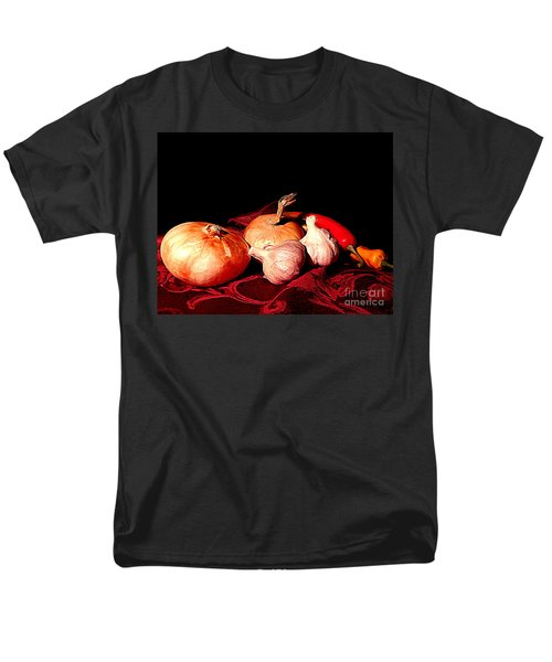 New Orleans Onions, Garlic, Red Chili Pepper Used In Creole Cooking A Still Life Men's T-Shirt  (Regular Fit) by Michael Hoard