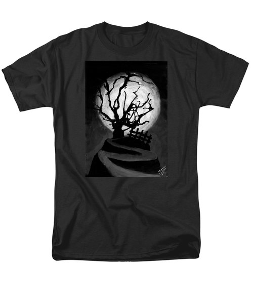 Men's T-Shirt  (Regular Fit) featuring the painting The Crooked Tree by Salman Ravish