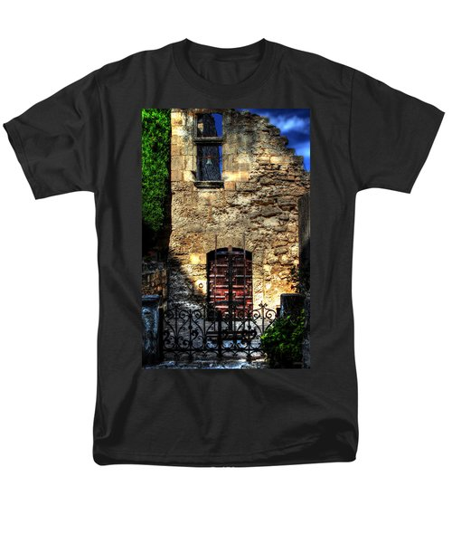 Men's T-Shirt  (Regular Fit) featuring the photograph The Cypress And The Bell France by Tom Prendergast