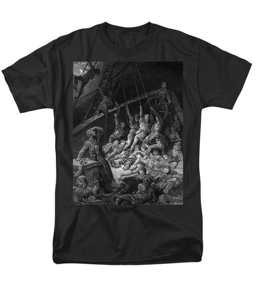 The Dead Sailors Rise Up And Start To Work The Ropes Of The Ship So That It Begins To Move Men's T-Shirt  (Regular Fit) by Gustave Dore
