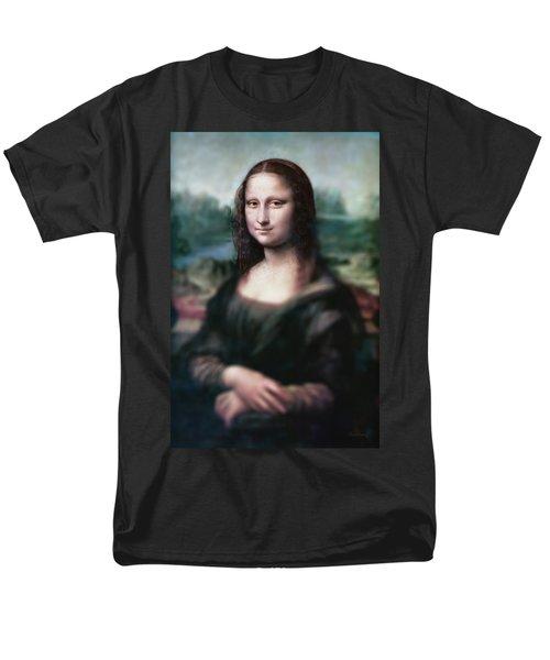 The Dream Of The Mona Lisa Men's T-Shirt  (Regular Fit) by David Bridburg