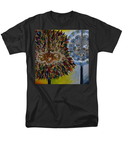 Men's T-Shirt  (Regular Fit) featuring the tapestry - textile The Egungun by Apanaki Temitayo M