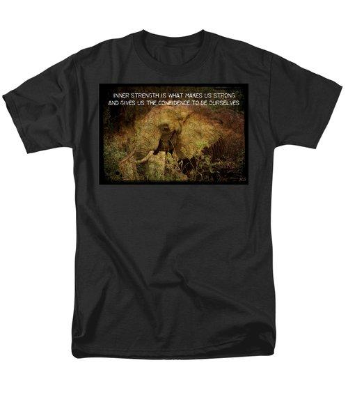 Men's T-Shirt  (Regular Fit) featuring the digital art The Elephant - Inner Strength by Absinthe Art By Michelle LeAnn Scott