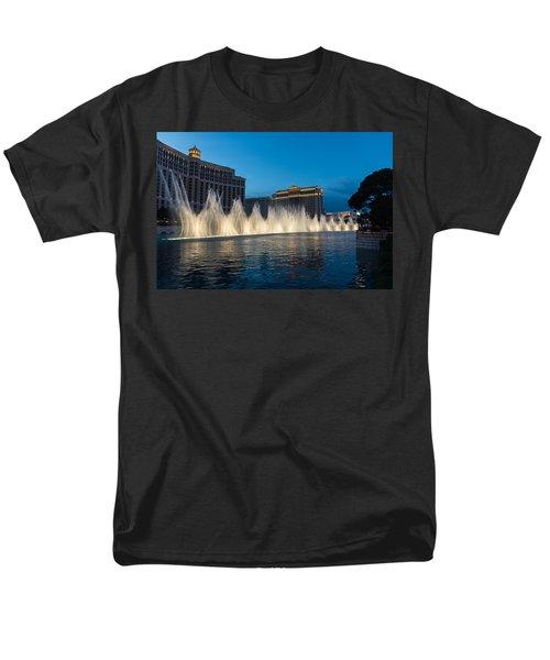 The Fabulous Fountains At Bellagio - Las Vegas Men's T-Shirt  (Regular Fit) by Georgia Mizuleva