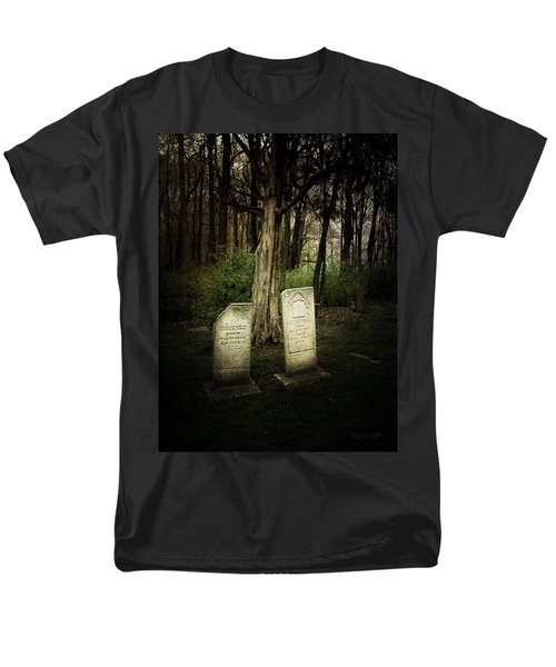 Men's T-Shirt  (Regular Fit) featuring the photograph The Final Resting Place Of Ambros And Brazilla Ivins by Cynthia Lassiter