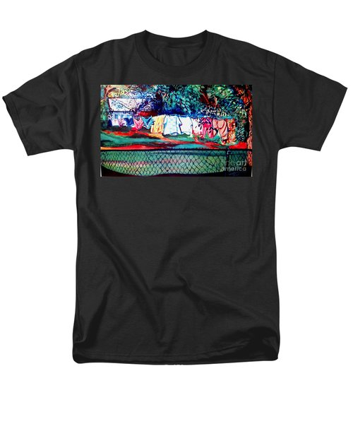 Men's T-Shirt  (Regular Fit) featuring the painting The First Clothing Line  by Ecinja