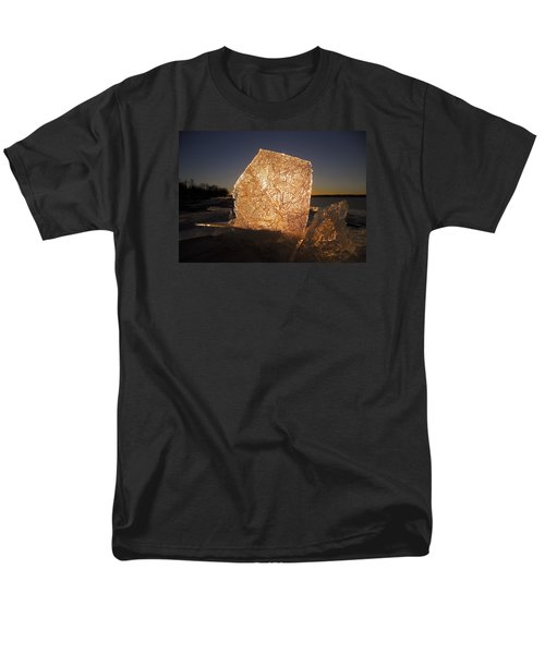Men's T-Shirt  (Regular Fit) featuring the photograph The First Ice ... by Juergen Weiss