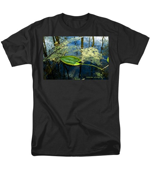 Men's T-Shirt  (Regular Fit) featuring the photograph The Floating Leaf Of A Water Lily by Verana Stark