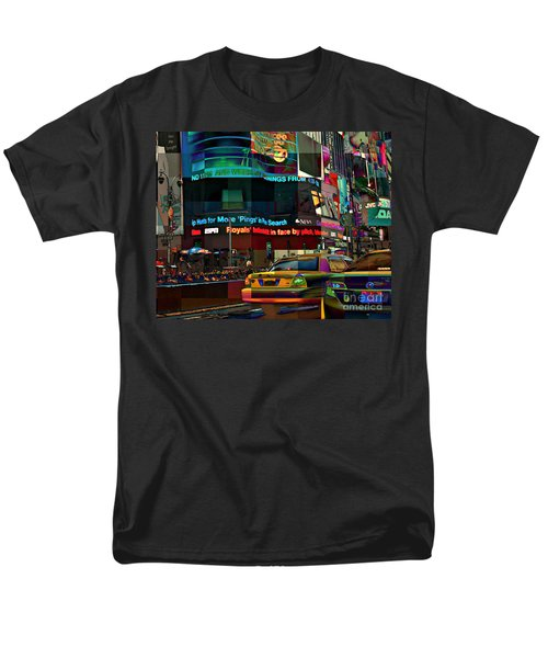 The Fluidity Of Light - Times Square Men's T-Shirt  (Regular Fit) by Miriam Danar