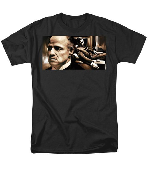 The Godfather Artwork Men's T-Shirt  (Regular Fit) by Sheraz A