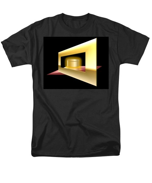 Men's T-Shirt  (Regular Fit) featuring the digital art The Golden Can by Cyril Maza