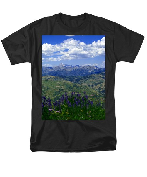 Men's T-Shirt  (Regular Fit) featuring the photograph The Grand And Lupines by Raymond Salani III