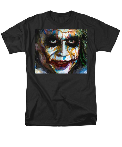 Men's T-Shirt  (Regular Fit) featuring the painting The Joker - Ledger by Laur Iduc