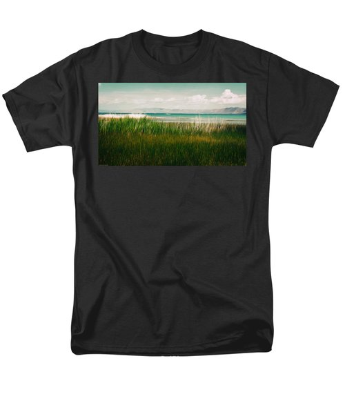The Lake - Digital Oil Men's T-Shirt  (Regular Fit) by Mary Machare