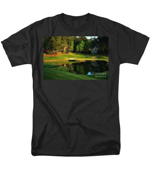Golf At The Landing #3 In Reynolds Plantation On Lake Oconee Ga Men's T-Shirt  (Regular Fit) by Reid Callaway