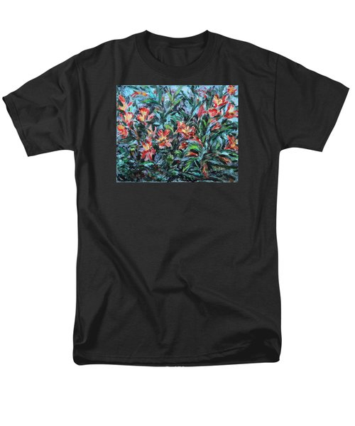 Men's T-Shirt  (Regular Fit) featuring the painting The Late Bloomers by Xueling Zou