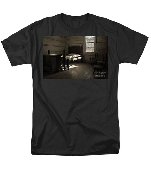 The Log Cabin C.1785 Men's T-Shirt  (Regular Fit) by Robert Meanor