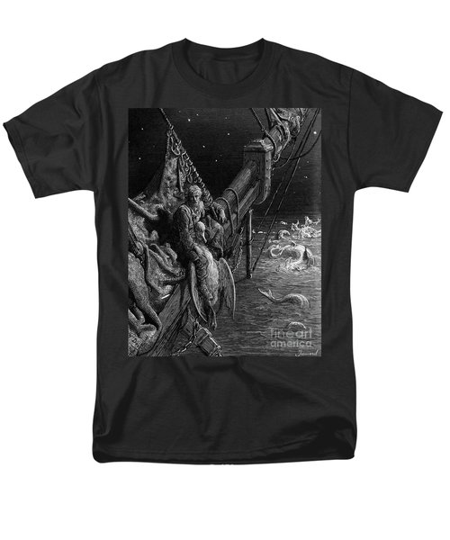 The Mariner Gazes On The Serpents In The Ocean Men's T-Shirt  (Regular Fit) by Gustave Dore