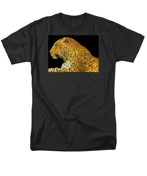 The Mighty Panthera Pardus Men's T-Shirt  (Regular Fit) by Emmy Marie Vickers