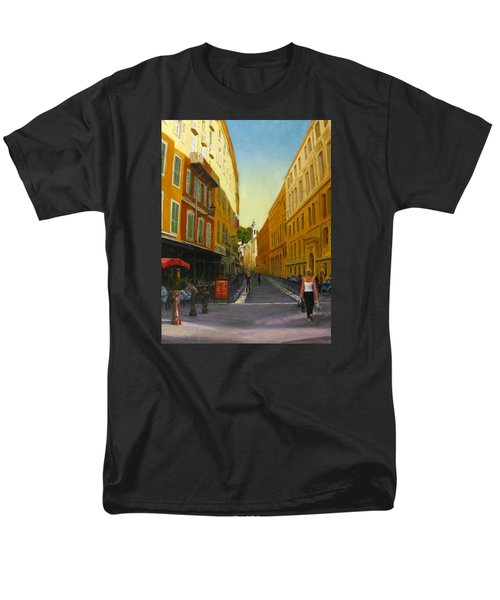 The Morning's Shopping In Vieux Nice Men's T-Shirt  (Regular Fit) by Connie Schaertl