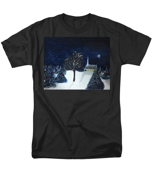 The Night Before Christmas Men's T-Shirt  (Regular Fit) by Dick Bourgault