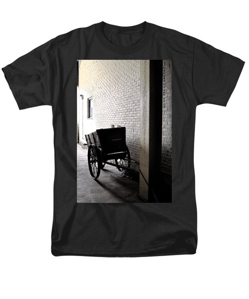 Men's T-Shirt  (Regular Fit) featuring the photograph The Old Cart From The Series View Of An Old Railroad by Verana Stark