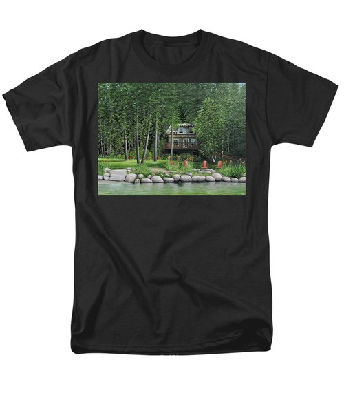 The Old Lawg Caybun On Lake Joe Men's T-Shirt  (Regular Fit) by Kenneth M  Kirsch