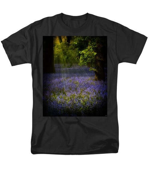 Men's T-Shirt  (Regular Fit) featuring the photograph The Pixie's Bluebell Patch by Chris Lord
