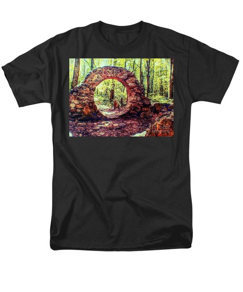 The Portal To Love Life Peace 1 Men's T-Shirt  (Regular Fit) by Becky Lupe