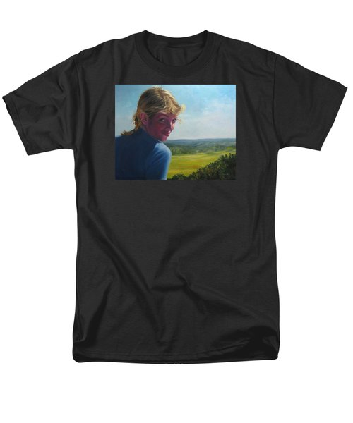 The Question Of A Minor Summit Men's T-Shirt  (Regular Fit) by Connie Schaertl